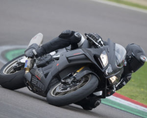 Max Biaggi on the Aprilia RSV4 1100 Factory