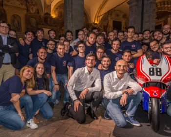 Domenicali with UniBo electric Ducati