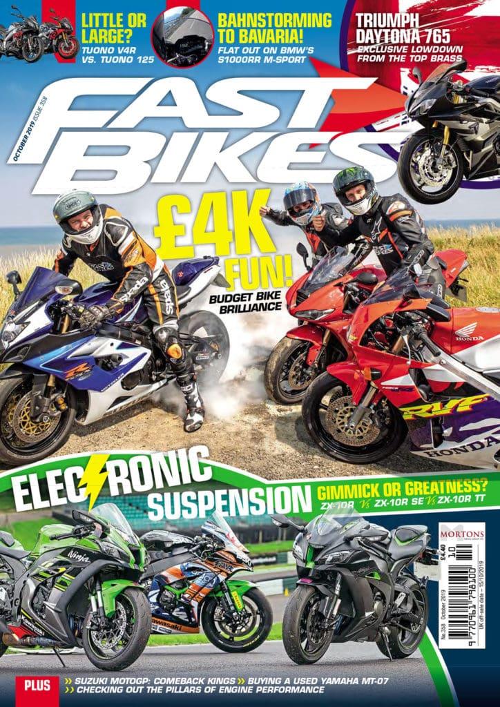 Fast Bikes magazine cover.